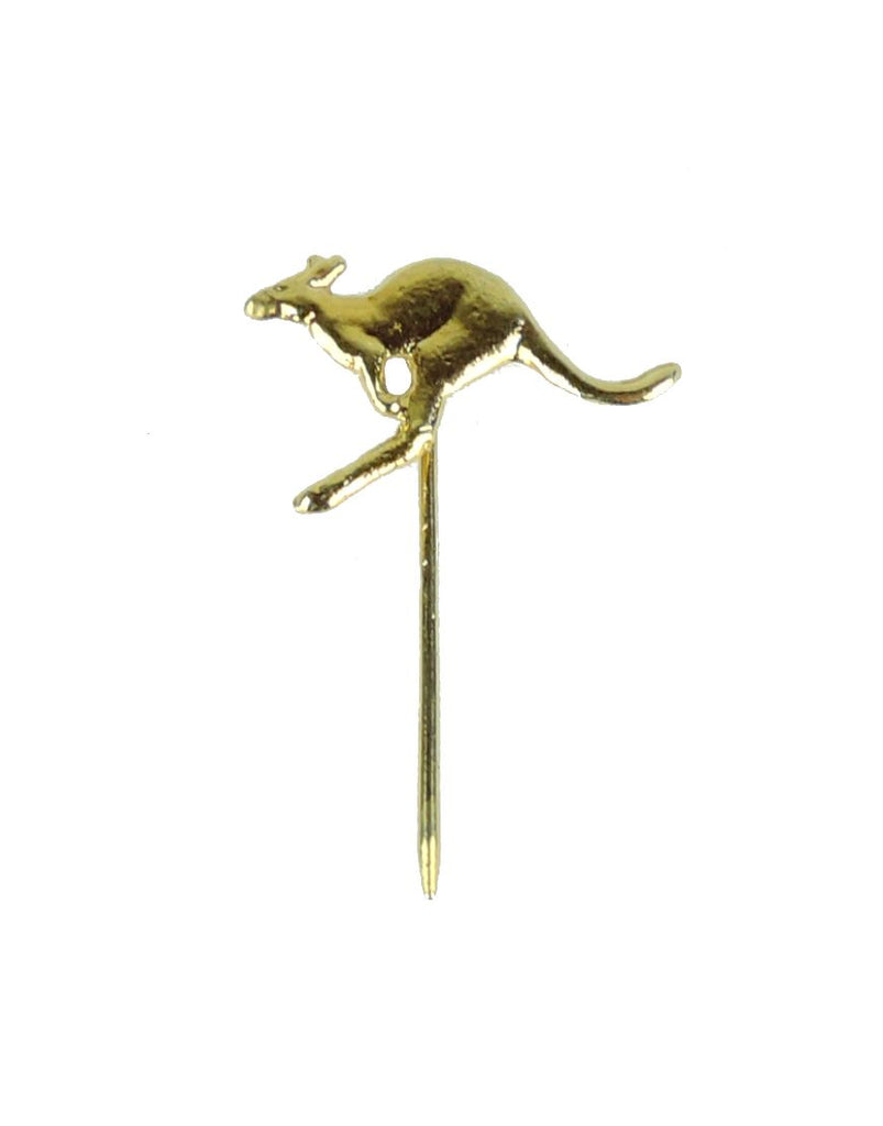 Stick Pin Flying Roo gold