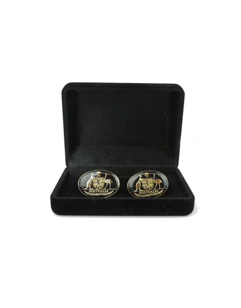 Cuff Link Coat of Arms Black