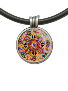 Pendant Rnd People Telling Stories Aboriginal