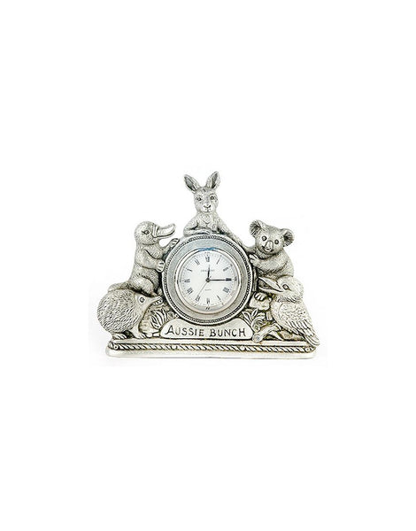 Clock Aussie Bunch Pewter