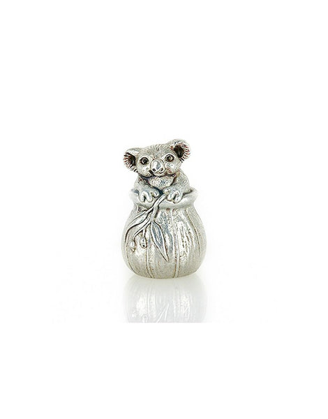 Miniature Koala in Gumnut Pewter
