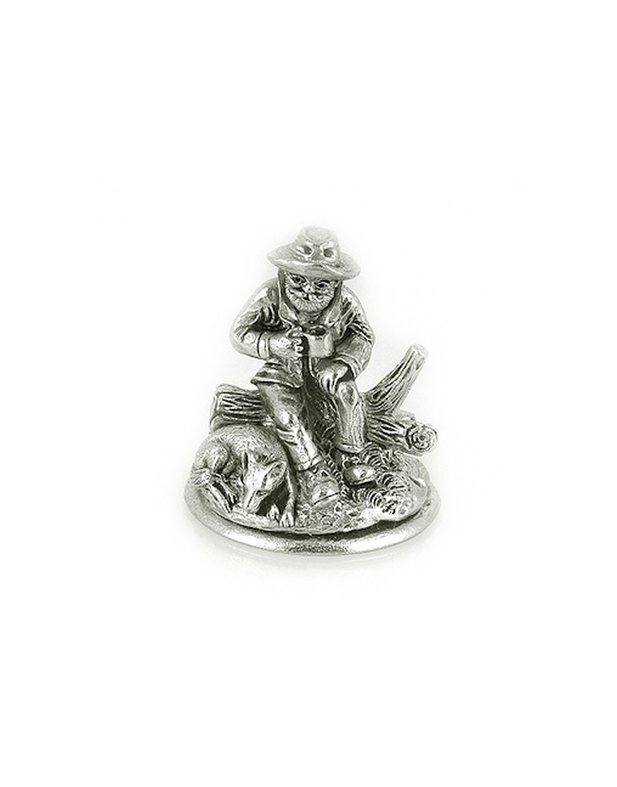 Miniature Swagman Sitting Pewter