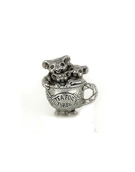 Miniature Tea for Three Pewter