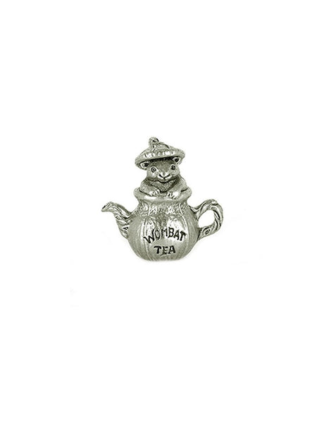 Miniature Wombat Tea Pewter