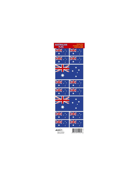 Sticker Aust Flag Sheet Assorted