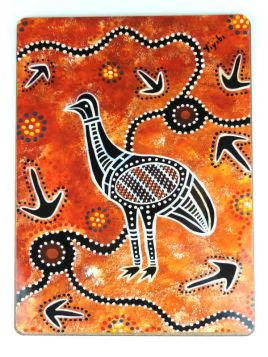 Placemats Brown Aboriginal Prints Set 6