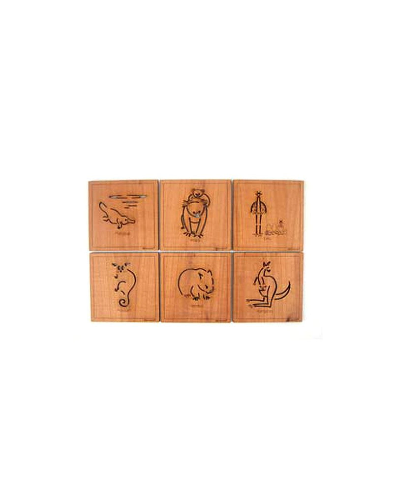 Coasters Animals Square Timber