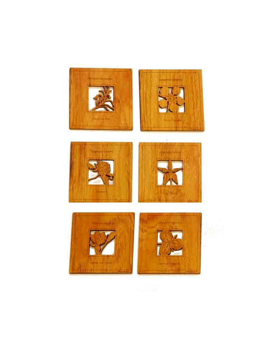 Coasters Flowers Square Timber