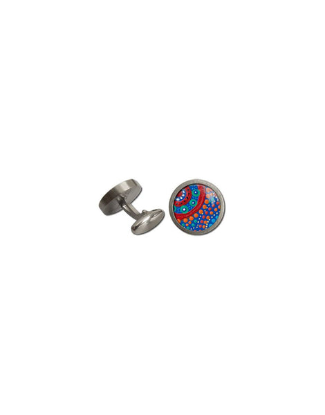 Cufflinks Rnd Picking Wildflowers Aboriginal
