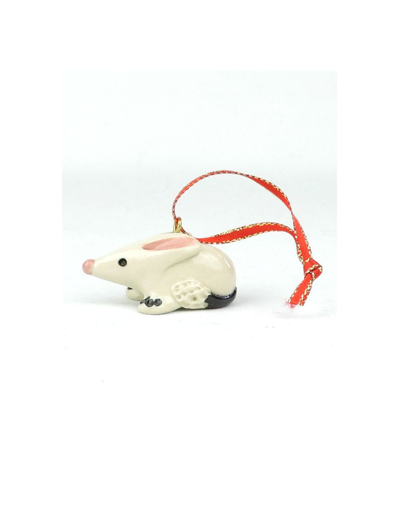 Glazed Xmas Bilby Ceramic Animal