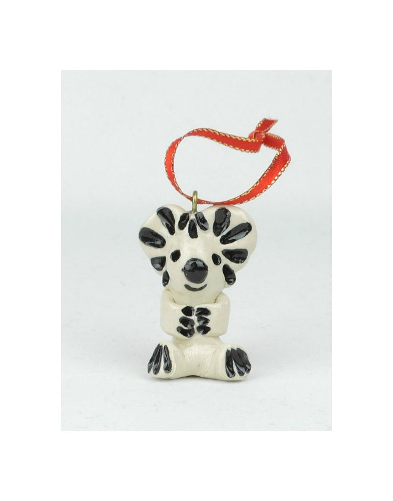 Glazed Xmas Koala Ceramic Animal