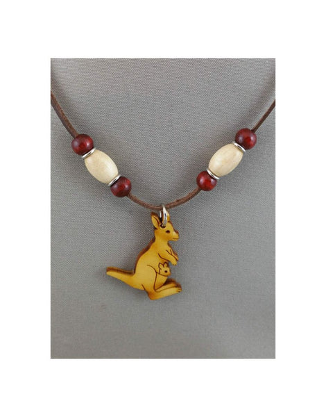 Leather Necklace Kangaroo
