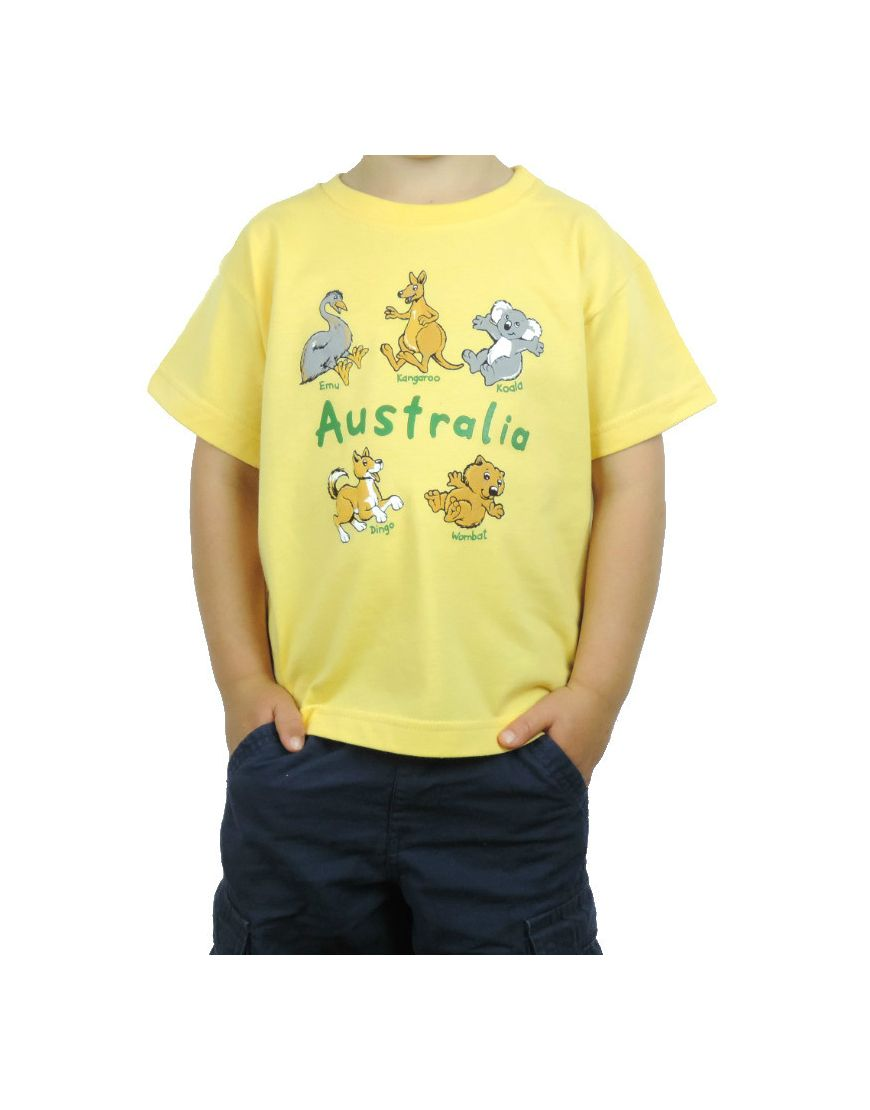 Kids TS Australian 5 Animals Puff