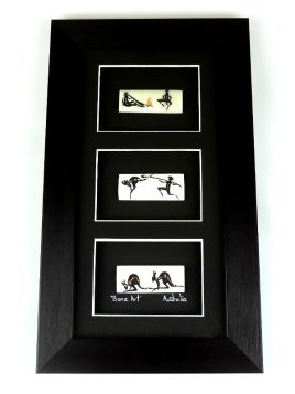 Bone Multiple 28x19 3 in 1 Small Framed