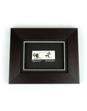 Bone Single 19x15 Small Framed