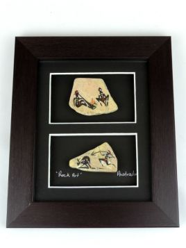 Stone 22x19 2in1 Rock Art Framed