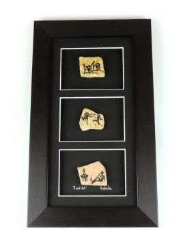 Stone 28x19 3in1 Rock Art Framed
