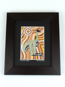 Print Emu Mintji Small Framed