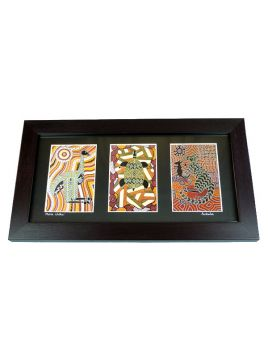 Triple Art Aboriginal Art Prints Framed