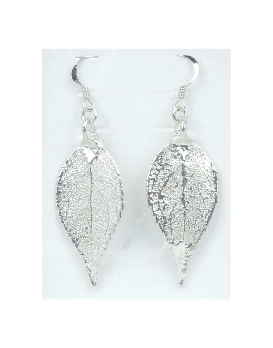 Earrings Pierced Eucaleaf Silver