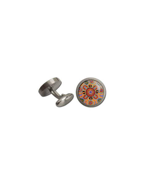 Cufflinks Rnd People Telling Stories Aboriginal