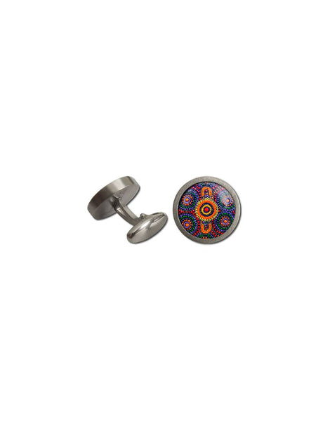 Cufflinks Rnd Sisters Picking Aboriginal