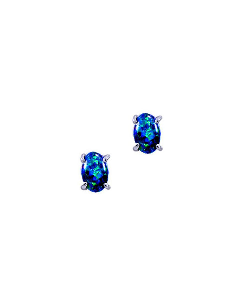 Rhod Earrings Opal Triplet 0604