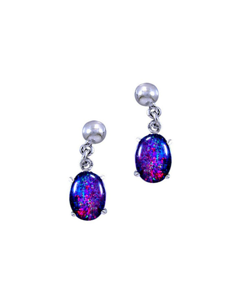 Rhod Earrings Opal Triplet 0806