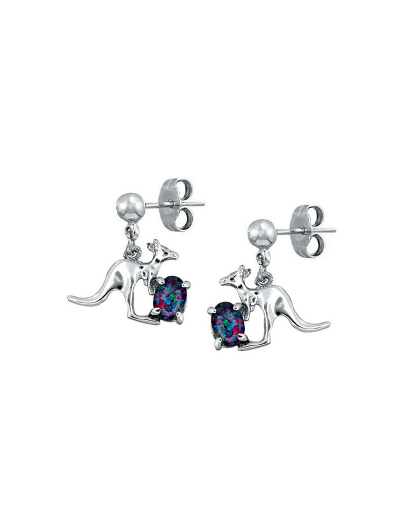Rhod Earrings Opal Triplet 0604 Kanga