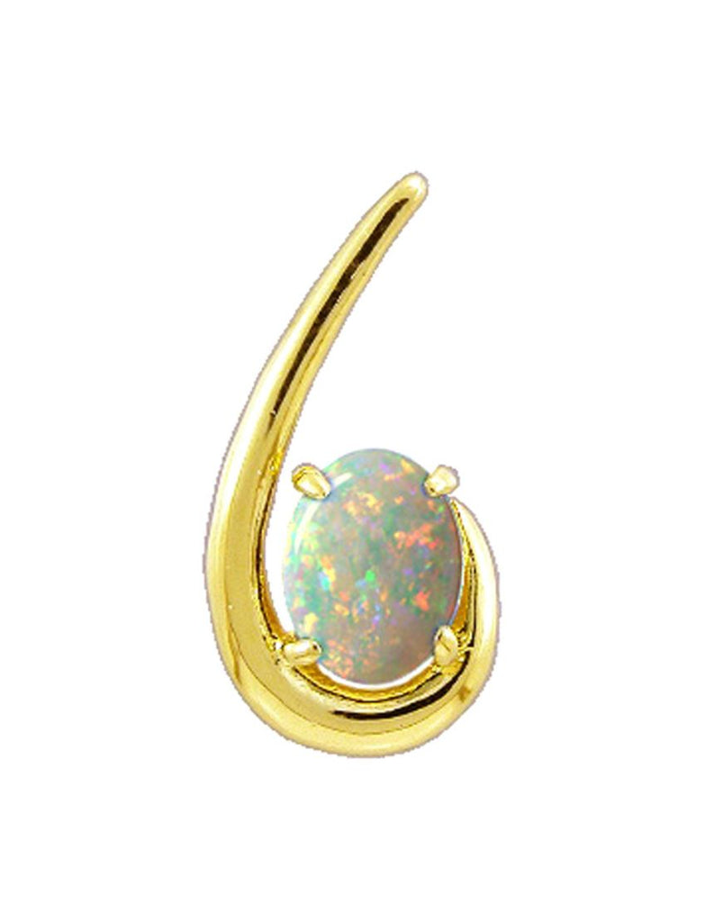Gold Pendant Opal Solid 0806