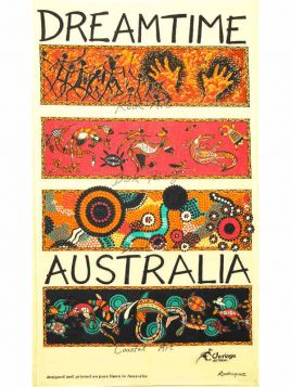 Dreamtime Art Aboriginal Tea Towel