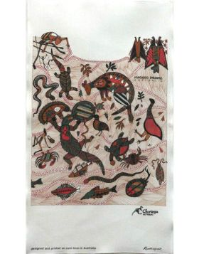 Kangaroo Dreaming Aboriginal Tea Towel