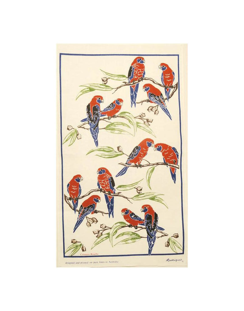 Crimson Rosella Tea Towel