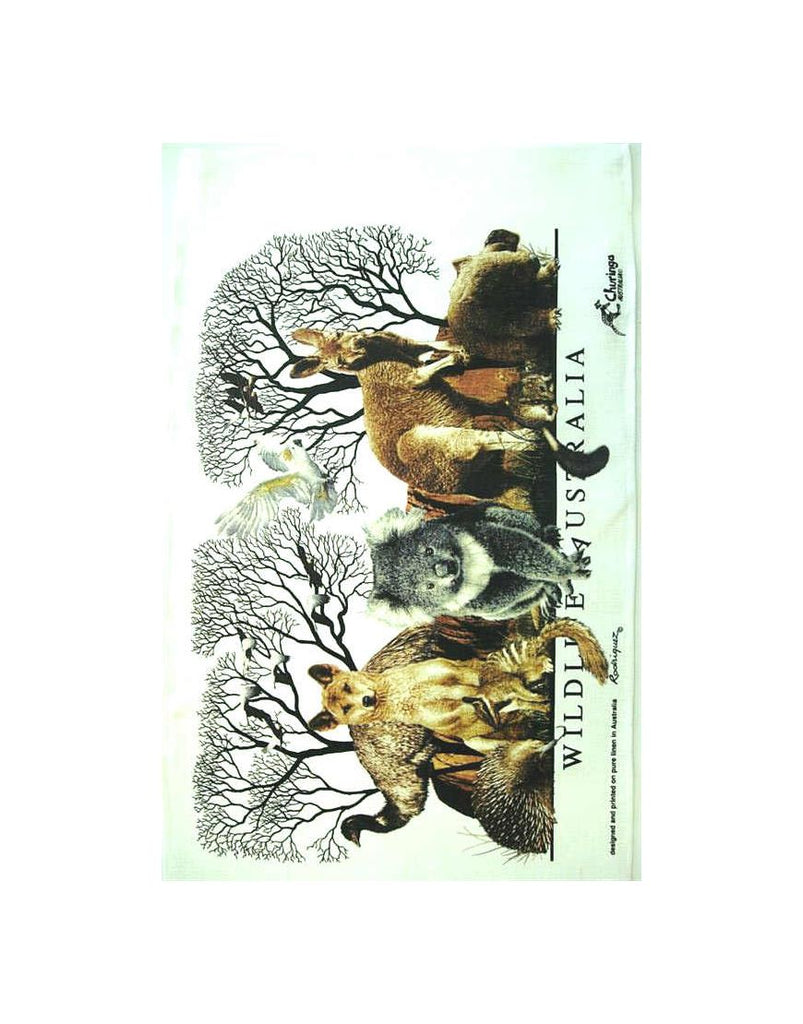 Churinga Dingo and Animals Tea Towel