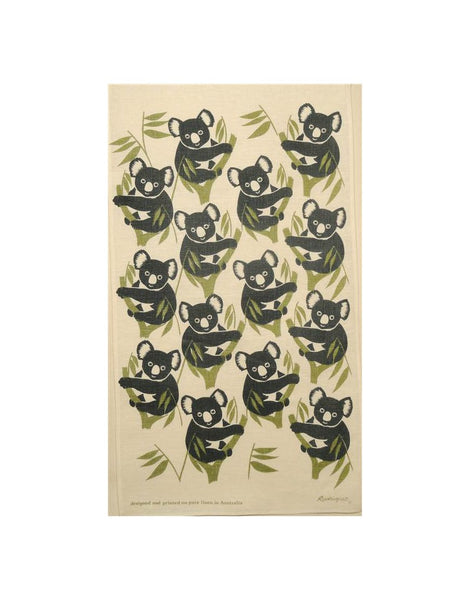 Koala Blue Tea Towel