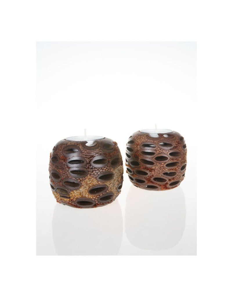 Tealights Ball Boxed Pair Banksia