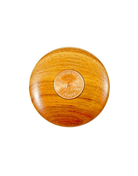 Timber Paper Weight with Penny