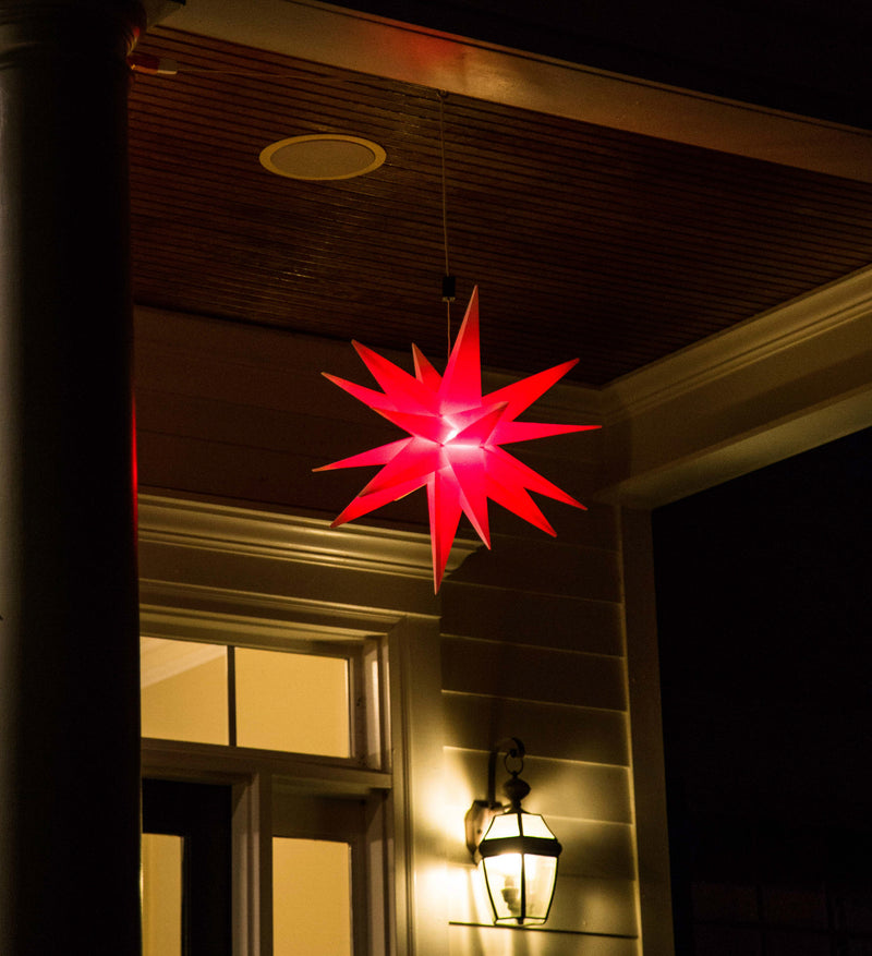 "18"" Multicolor Remote Control Folding Moravian Star with Remote"