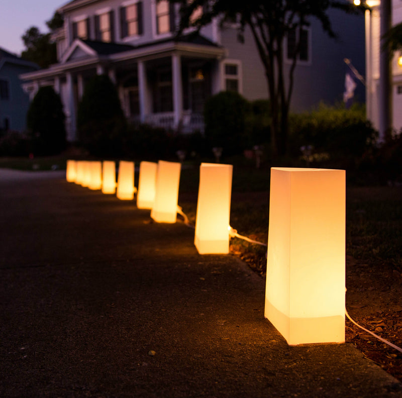 Electric Luminary Pathway Light Bags </br> (set of 10)