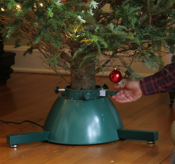 Rotating Christmas Tree Stand for Live Tree