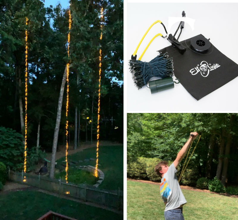 ShotLights - Kit to Hang 60 ft Light Strings From Tall Trees