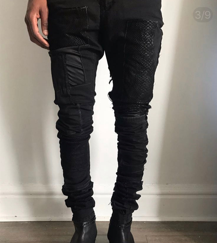 Beyond Space Suede Patch Jean