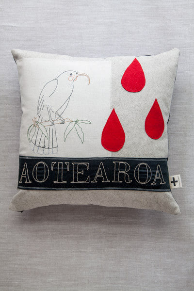 'Huia Tears' Trade Cushion
