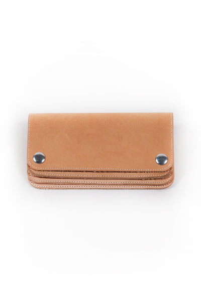 Large Nude Leather Wallet