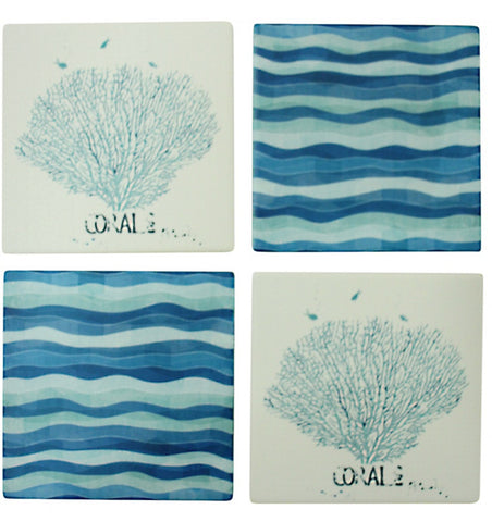 Coasters Coral and Seaweed