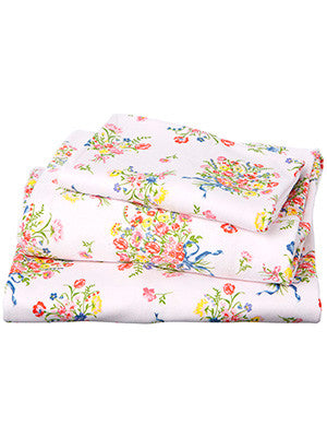 Toshi Cot Sheet Set Knit Bouquet