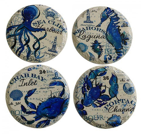 Coasters Navy Sealife