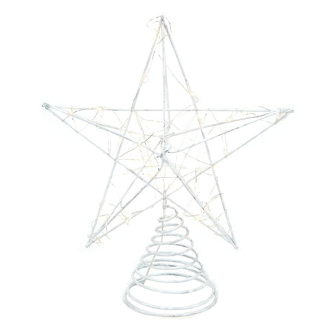 DD Metal LED Tree Topper White