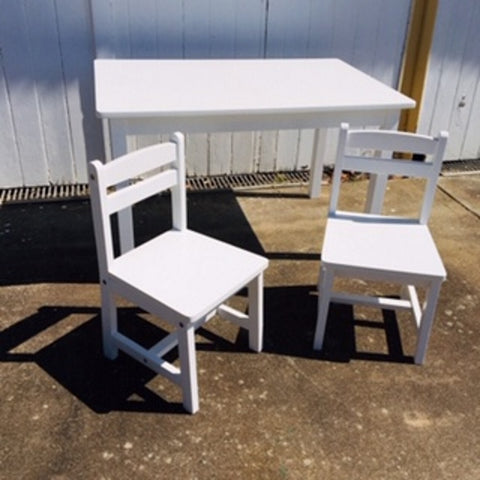 Childrens Wooden Table and 2 Chairs