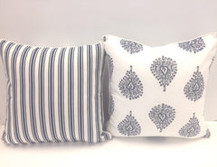 Cushion CS COVER ONLY NW Ornamental Blue Euro